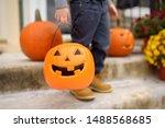Little Boy At Halloween...