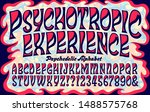 vector alphabet  a swirling... | Shutterstock .eps vector #1488575768