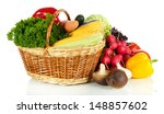 different vegetables isolated... | Shutterstock . vector #148857602