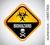 biohazard design over gray... | Shutterstock .eps vector #148857806