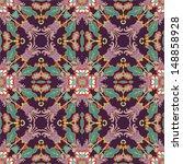 floral seamless oriental...   Shutterstock .eps vector #148858928