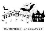 happy halloween text banner... | Shutterstock .eps vector #1488619115