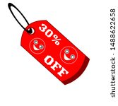 30  off red coloured sale tag...