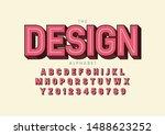 vector of stylized modern font... | Shutterstock .eps vector #1488623252
