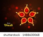 beautiful decoration on the... | Shutterstock .eps vector #1488630068