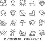 set of insurance icons ... | Shutterstock .eps vector #1488634745