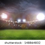 stadium in lights and flashes | Shutterstock . vector #148864832