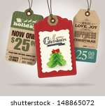 christmas sale tags | Shutterstock .eps vector #148865072