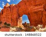 pine tree arch devils garden... | Shutterstock . vector #148868522