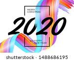 2020 happy new year background... | Shutterstock .eps vector #1488686195