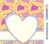 postcard with pink hearts | Shutterstock .eps vector #148868972