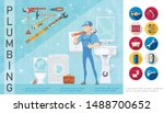 plumber service concept with... | Shutterstock .eps vector #1488700652