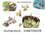 isometric oil industry... | Shutterstock .eps vector #1488700658