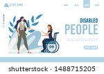 landing page offering help for... | Shutterstock .eps vector #1488715205