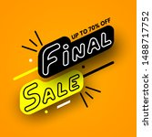 black and yellow final sale... | Shutterstock .eps vector #1488717752