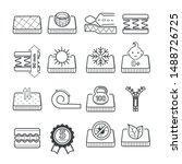 mattress pillow features... | Shutterstock .eps vector #1488726725