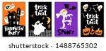 set of cartoon kids style... | Shutterstock .eps vector #1488765302