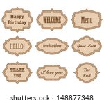 vector collection  vintage... | Shutterstock .eps vector #148877348