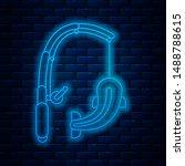 glowing neon line fishing rod... | Shutterstock .eps vector #1488788615