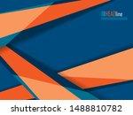 vector modern cover template.... | Shutterstock .eps vector #1488810782