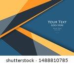 vector modern cover template.... | Shutterstock .eps vector #1488810785