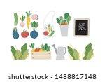 summer print in modern style...   Shutterstock .eps vector #1488817148