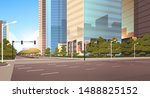 beautifil city street asphalt... | Shutterstock .eps vector #1488825152