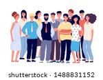 employee group portrait. young... | Shutterstock .eps vector #1488831152