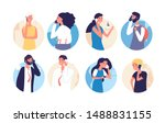 people talking phone. person ... | Shutterstock .eps vector #1488831155