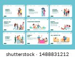 family landing pages. happy... | Shutterstock .eps vector #1488831212