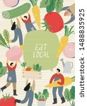 local organic production... | Shutterstock .eps vector #1488835925