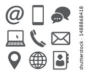 contact icons on white... | Shutterstock .eps vector #1488868418