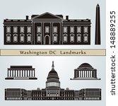 washington dc landmarks and... | Shutterstock .eps vector #148889255