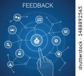 feedback concept  blue...