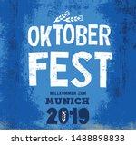oktoberfest handwritten header... | Shutterstock .eps vector #1488898838