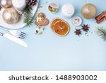 christmas table setting with... | Shutterstock . vector #1488903002