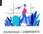 medical tourism  medical... | Shutterstock .eps vector #1488908975