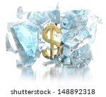 money breaks the ice concept | Shutterstock . vector #148892318