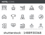 hotel vector line icons set.... | Shutterstock .eps vector #1488930368