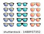 a set of sunglasses. summer... | Shutterstock .eps vector #1488937352
