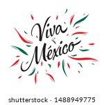 mexican vector banner layout... | Shutterstock .eps vector #1488949775