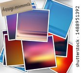 template square photos with an... | Shutterstock .eps vector #1488951392