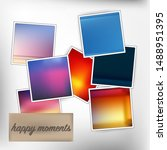 template square photos with an... | Shutterstock .eps vector #1488951395