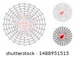 mesh spider net model with... | Shutterstock .eps vector #1488951515