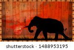 Silhouette Elephants In The...
