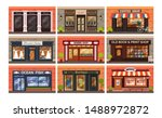 retro shop store facade with... | Shutterstock .eps vector #1488972872