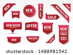 new collection sale tags. 3d... | Shutterstock .eps vector #1488981542