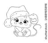 Cute Cartoon Christmas Mouse....