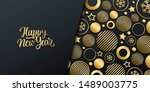 new year luxury holiday banner... | Shutterstock .eps vector #1489003775