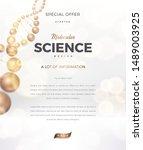 science abstract vector... | Shutterstock .eps vector #1489003925
